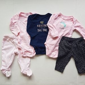 CARTER'S Clothing Bundle Lot Baby Girl 3 Months